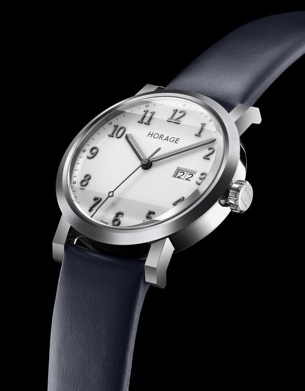 Omnium K1腕錶,不鏽鋼錶殼,錶徑40毫米,時、分、秒、大日期,Accurat Swiss K1自動上鍊機芯,動力儲能56小時,藍寶石水晶玻璃鏡面及後底蓋,防水100米,小牛皮錶帶。