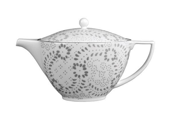 Wedgwood Jasper Conran Embroidered 刺繡花舞茶壺,定價NT$9720特賣對折。