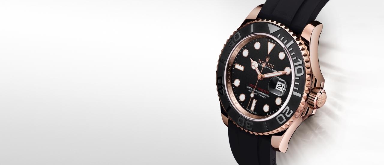 時尚實用的運動腕錶:勞力士Yacht-Master全新18ct永恒玫瑰金黑色錶款