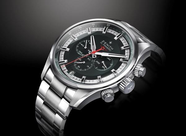 El Primero Sport腕錶錶面設計獨特,以強勁雄渾的線條彰顯活力四射的運動精神。寬大的琢面鍍銠時標覆以Super-LumiNova®SLN C1超級夜光物料,與全人手紋飾(以精湛手工演繹一項經改良的古老技術以製作出極富質感的磨砂直紋圖案)的銀色或深灰色錶面形成鮮明對比。