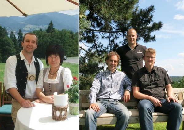 左起:Horage品牌創始人Andreas Felsl 與Tzuyu Huang;Accurat Swiss團隊Achim Huber、Jonas Nydegger及Stephan Kussmaul。