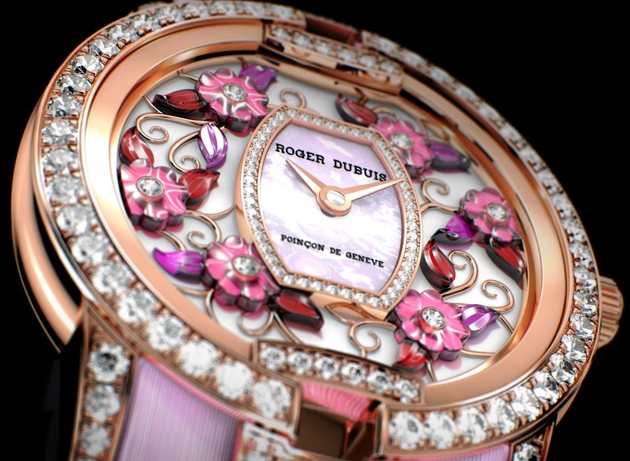 【2016 pre-SIHH報導】Roger Dubuis羅杰杜彼Blossom Velvet Pink絕世名伶系列花漾粉紅腕錶