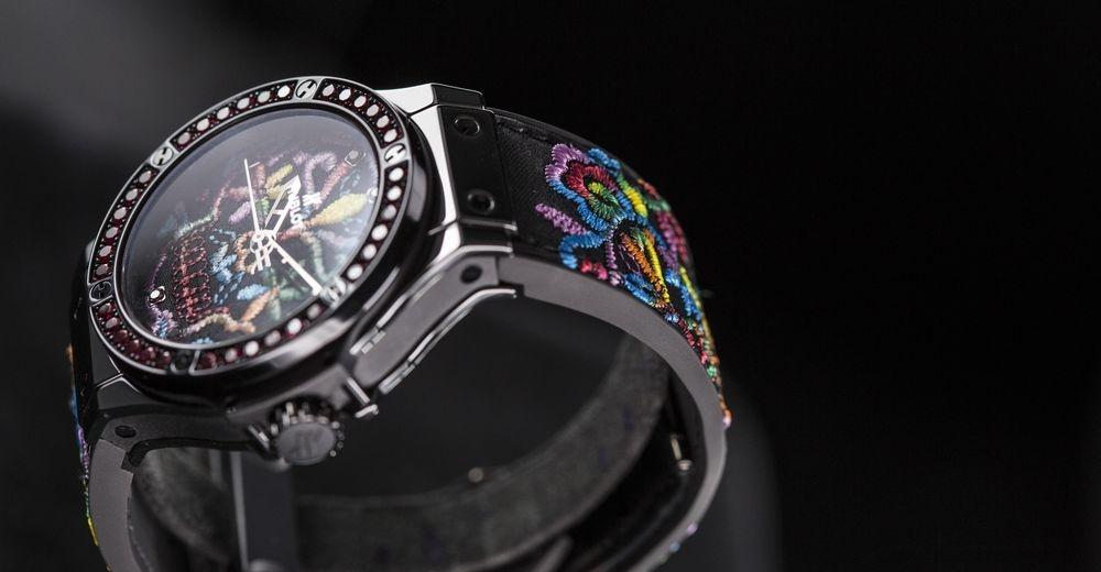 2016日內瓦新品預覽──Hublot Big Bang糖果骷髏刺繡腕錶