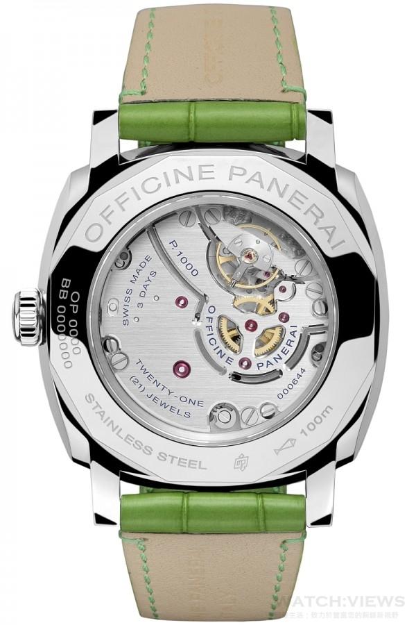 Radiomir 1940 3 Days 3日動力儲存精鋼腕錶(PAM00574)配備沛納海全新自製P.1000手上鍊機芯