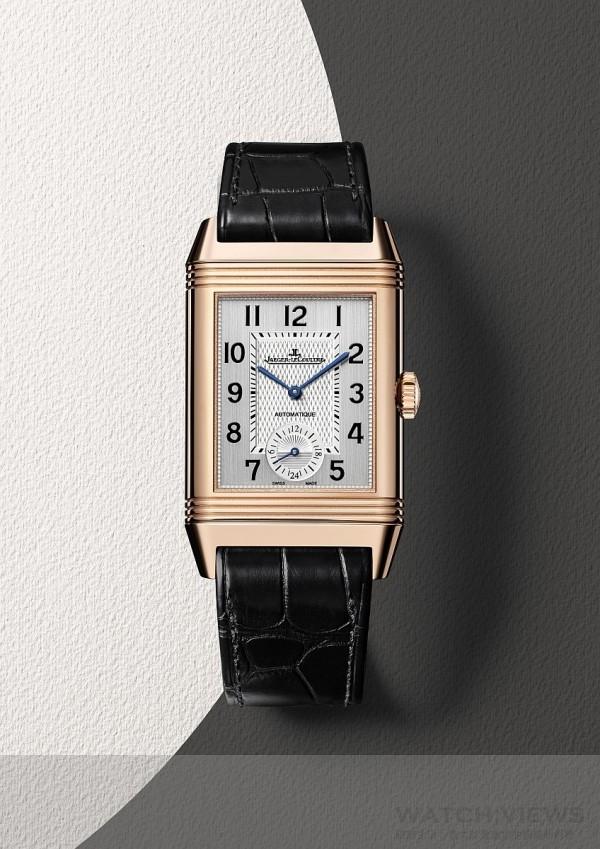 積家Reverso Classic Large Duo經典雙時區翻轉系列腕錶大型款(正面),Q3832420,價格未定。