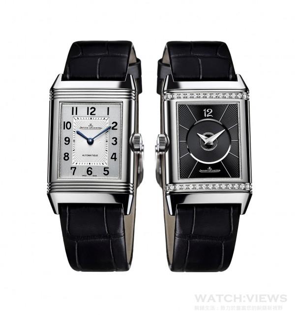 積家Reverso Classic Medium Duetto經典雙面翻轉系列腕錶中型款(精鋼款)Q2578420,約價:NT$352,000。
