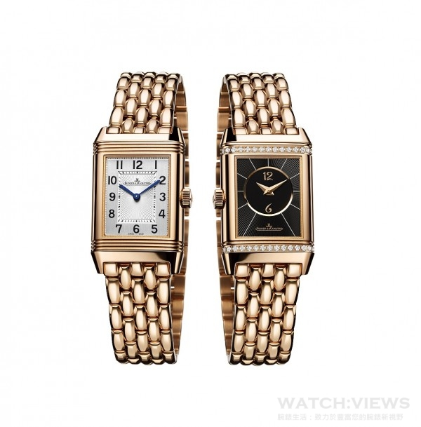 積家Reverso Classic Small Duetto經典雙面翻轉系列腕錶小型款(18K玫瑰金款),型號Q2662130,約價:NT$1,010,000。