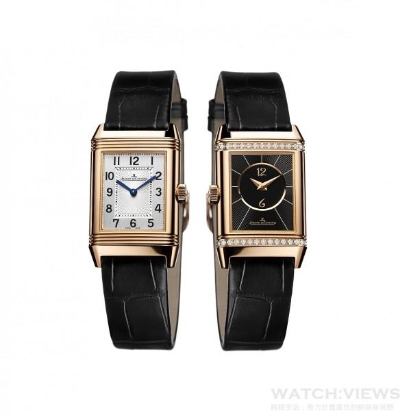 積家Reverso Classic Small Duetto經典雙面翻轉系列腕錶小型款(精鋼款),Q2668430,約價:NT283,000。