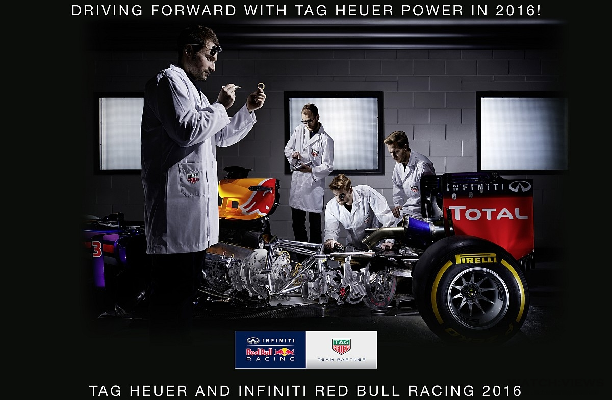 TAG Heuer泰格豪雅與F1紅牛車隊簽約成為官方計時器和官方腕錶