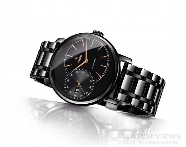 雷達表DiaMaster系列Grande Seconde電漿高科技陶瓷自動錶(鍊帶款)