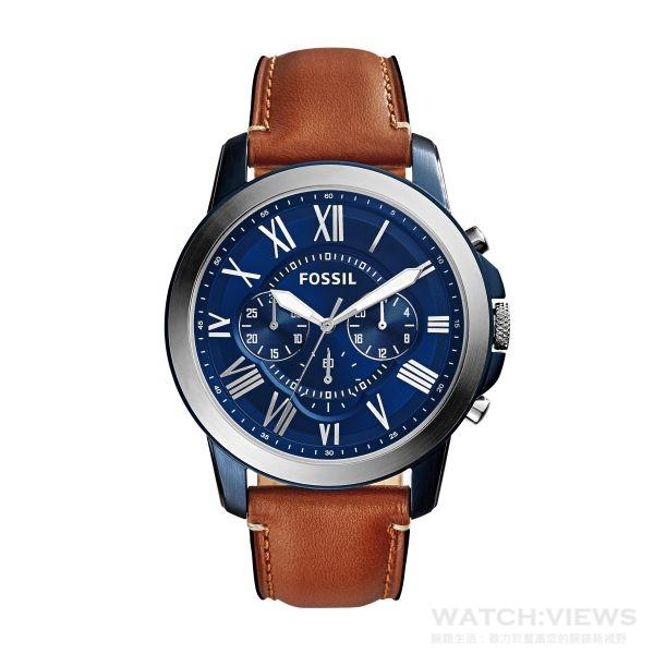 Ocean Blue「湛藍海洋」系列Grant計時腕錶,直徑44毫米,參考價NT$6,000。