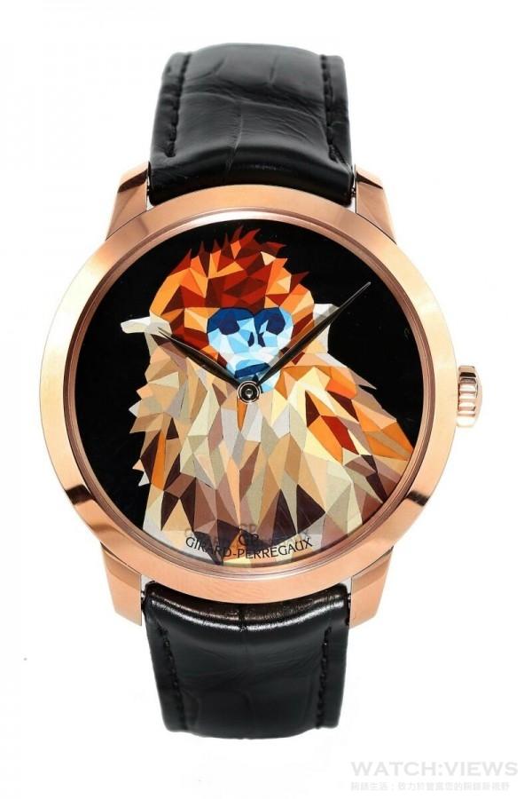 GP芝柏表猴年特別版腕表系列金猴款式,建議售價NTD1,136,800。