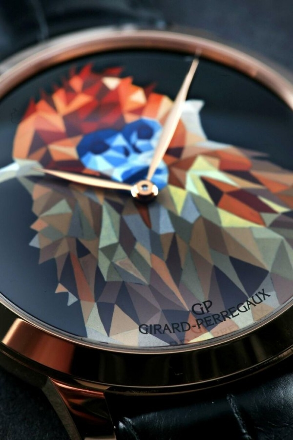 GP芝柏表猴年特別版腕表系列金猴款式面盤細節。