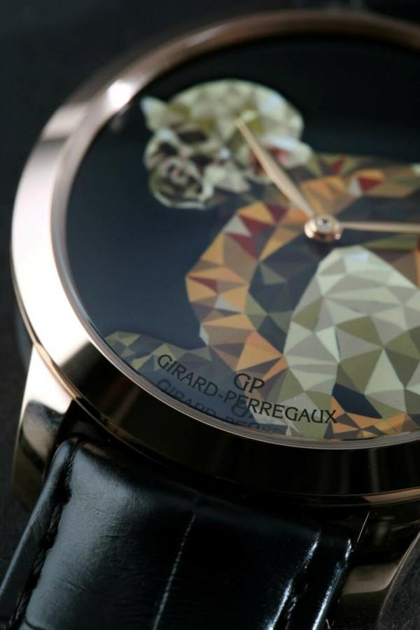 GP芝柏表猴年特別版腕表系列鼠猴款式面盤細節。