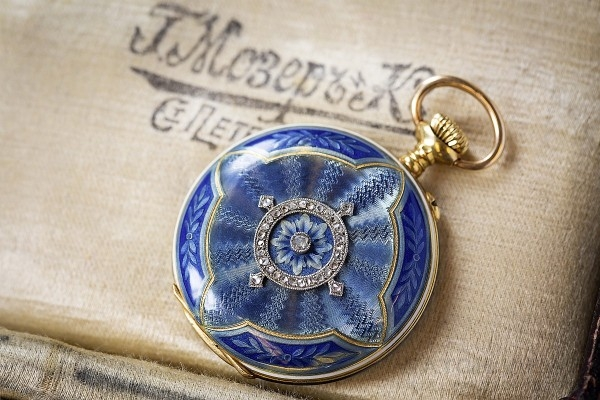 H. Moser & Cie.系列經典懷錶,生產日期19世紀下半葉。