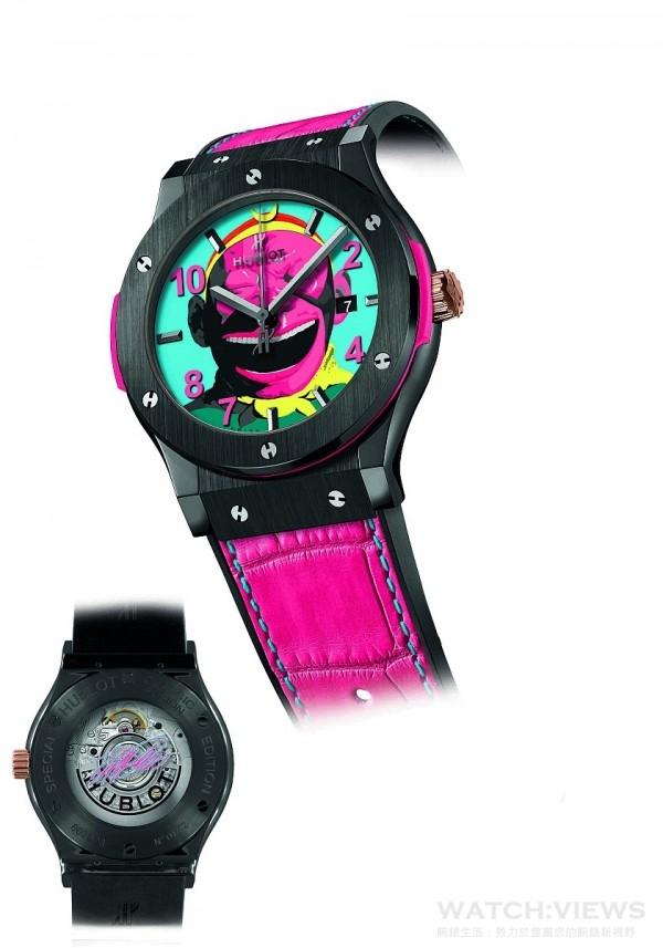 HUBLOT經典融合系列大笑猴王腕錶陶瓷款