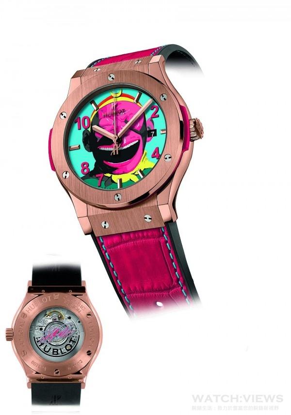 HUBLOT經典融合系列大笑猴王腕錶 King Gold 款