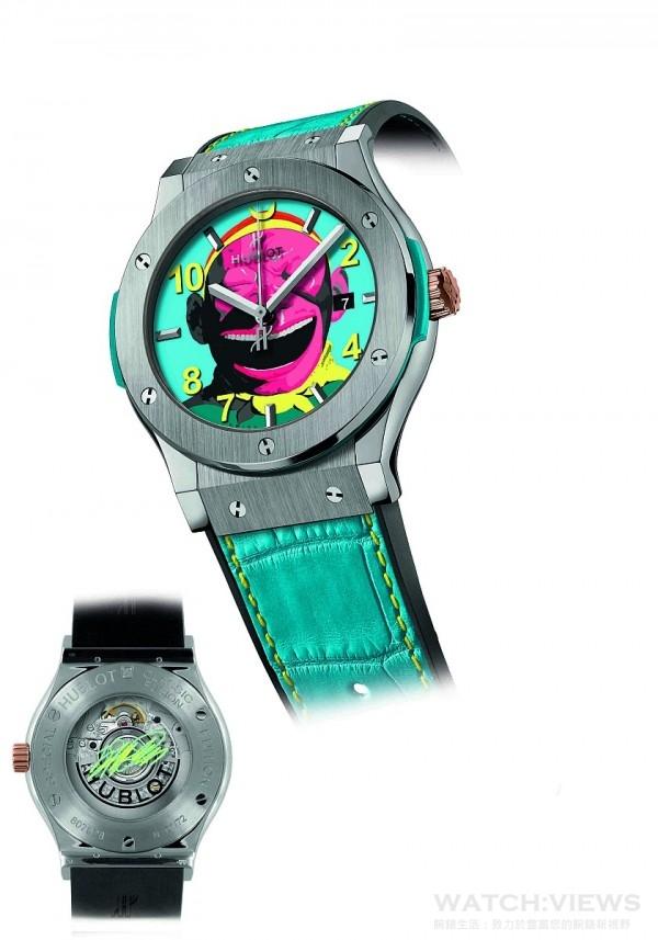 HUBLOT經典融合系列大笑猴王腕錶鈦金屬款