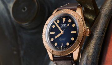 ORIS推出Carl Brashear限量青銅潛水腕錶