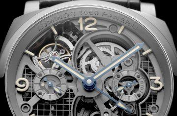 【2016 SIHH報導】沛納海推出Lo Scienziato–Luminor 1950 Tourbillon GMT Titanio 腕錶特別版47毫米陀飛輪兩地時間鈦金屬腕錶(PAM00578)
