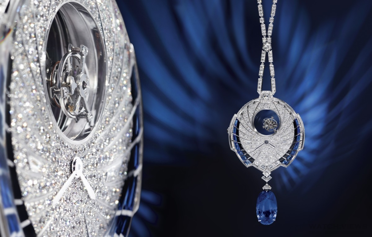 【2016 SIHH報導】華美夜蝶散發神秘魅力:卡地亞Tourbillon Mystérieux Azuré 神秘陀飛輪蔚藍墜飾錶