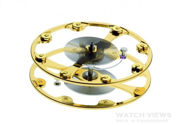 為追求精準計時,愛彼將二枚擺輪和擺輪游絲組合體固定在同一軸線上,提升準確度,這項全新的「雙擺輪(Dualbalance)」技術已申請幾何結構專利保護。