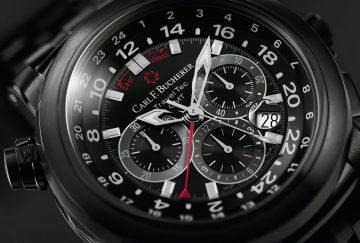 【2016 BASEL展前預報】全新演繹黑酷時尚:寶齊萊柏拉維 TravelTec 類鑽碳三地時間計時碼錶