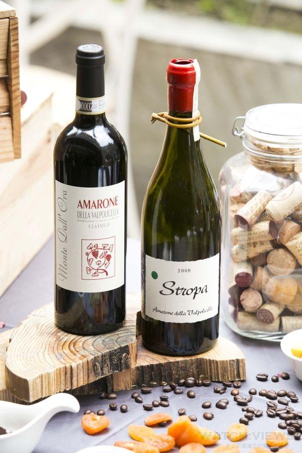 Monte Dall' Ora酒莊推薦酒款 - Amarone della Valpolicella Classico 2010(左)、Stropa 2008(右)。