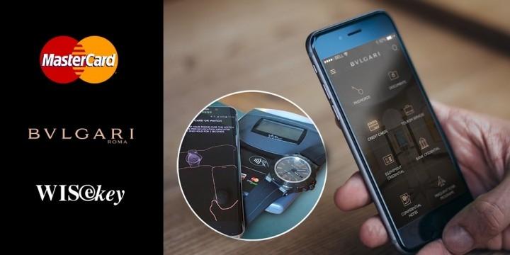 MasterCard無線支付功能將加到世界第一支真正的「智能化奢華機械腕錶」寶格麗Diagono Magn@sium之上。