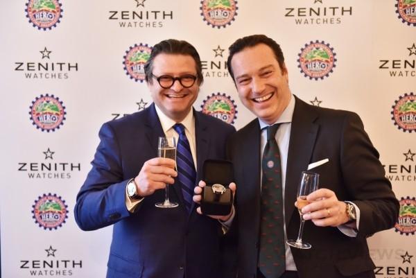 ZENITH總裁暨CEO Mr. Aldo Magada與HERO董事總經理Mr. Patrick Burke合影。