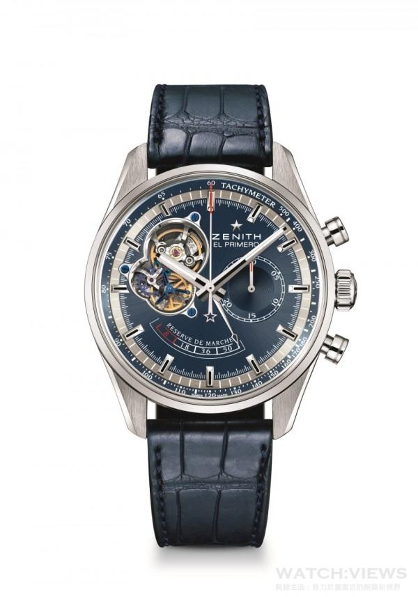 El Primero Chronomaster動力儲存腕錶-查理斯•維爾莫限量款,El Primero自動上鍊機芯,錶徑42毫米,動力儲存顯示設於6點方向,台幣定價NTD312,000。