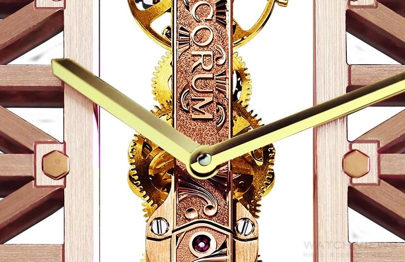 製錶與建築的藝術姻緣:CORUM崑崙金橋圓形腕錶