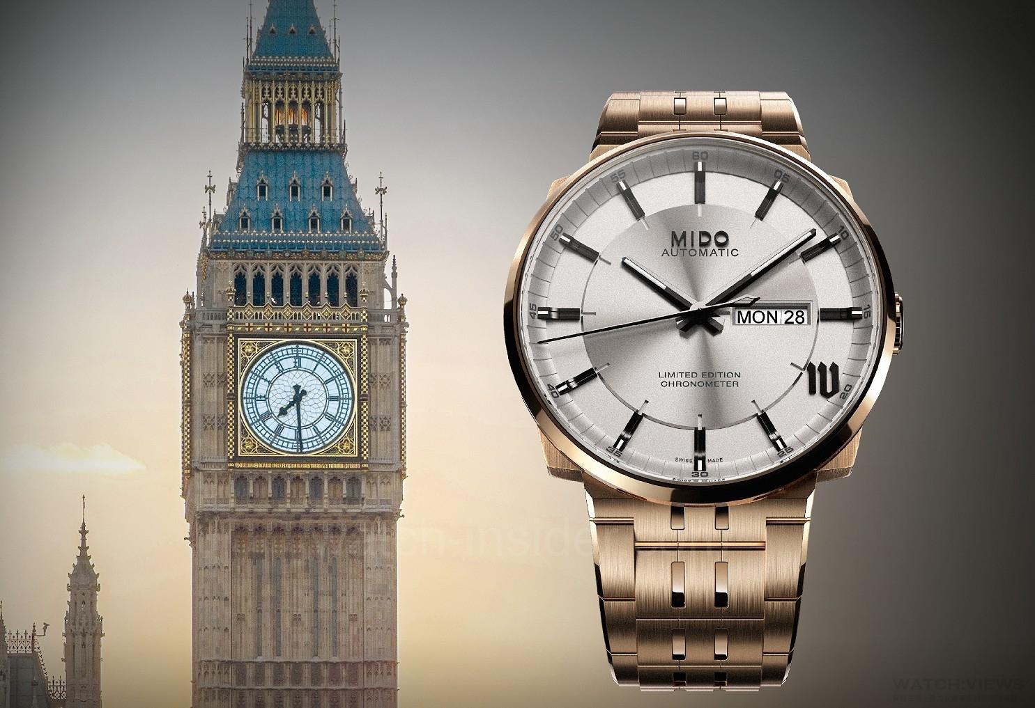 【2016 BASEL巴塞爾錶展報導】美度MIDO全新Big Ben英國倫敦大笨鐘限量腕錶