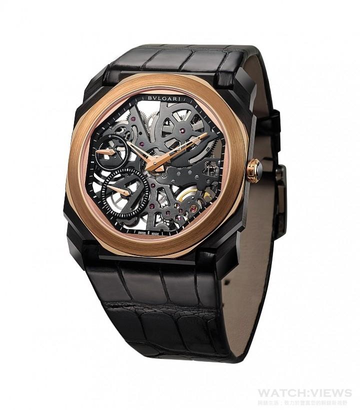知名男星Luke Evans佩戴錶款:OCTO FINISSIMO SKELETON透視機芯腕錶