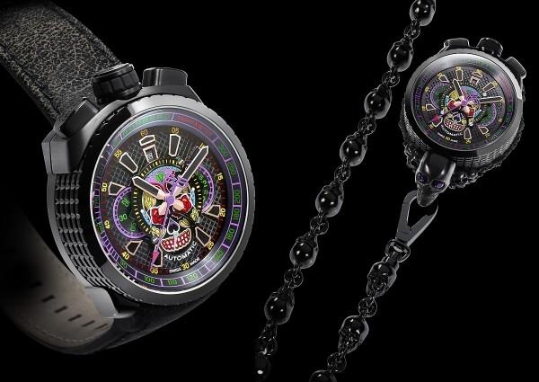Bomberg 打破傳統腕錶外型的窠臼,將錶冠與計時按鈕設置在12點鐘位置上方。錶殼設計則走極簡風,錶緣用縱橫格狀的花紋裝飾或在主題款上綴以手榴彈紋路,因此被暱稱為「炸彈錶」。