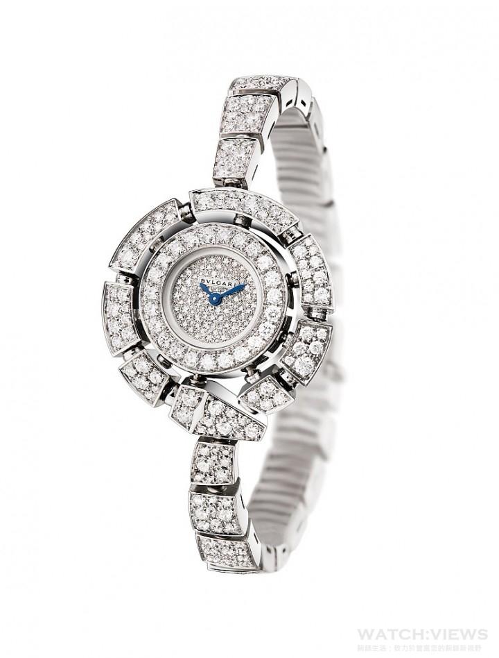 知名女星Olga Kurylenko所佩戴的SERPENTI INCANTATI 珠寶腕錶
