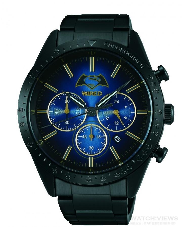 WIRED x BATMAN v SUPERMAN DAWN OF JUSTICE聯名錶款,定價NT$ 8,900。