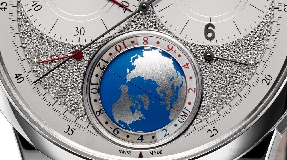 積家Duomètre Unique Travel Time雙翼獨特旅行時間腕錶 全新銀色粒面鑿刻設計勾起對旅行的渴望