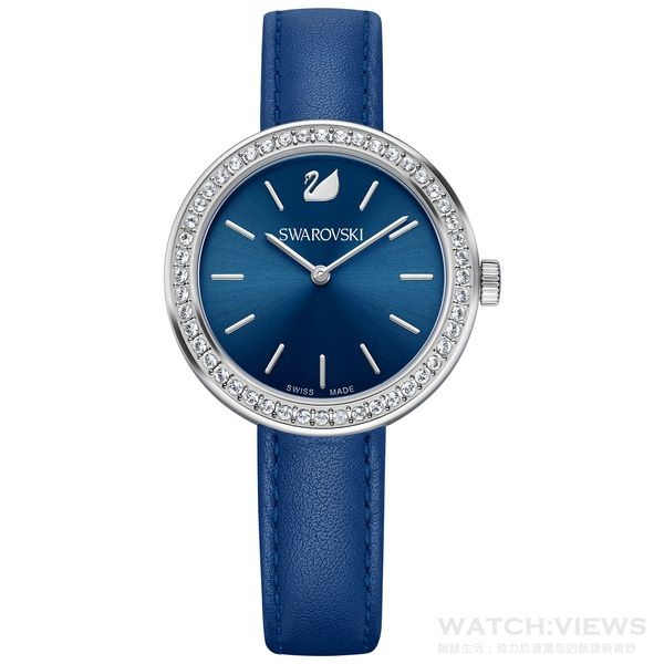 Daytime 是日常穿搭的最佳裝飾。綴有48顆耀眼 Swarovski 水晶的外圈,展現出精巧細緻的魅力。DAYTIME手錶 $9,990