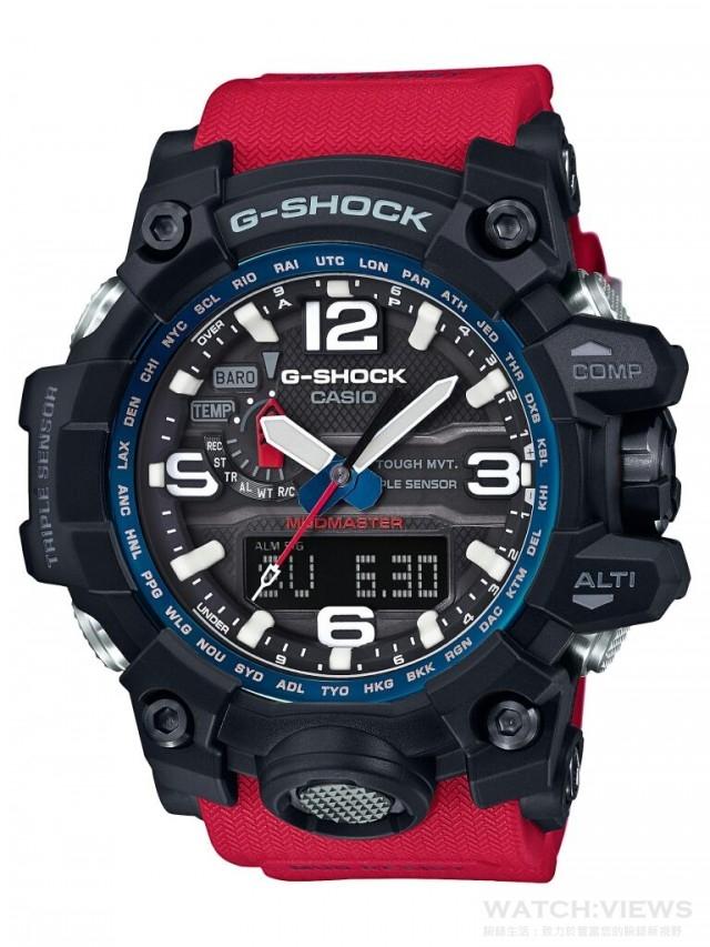 CASIO G-SHOCK GWG-1000RD,建議售價NT$20,000