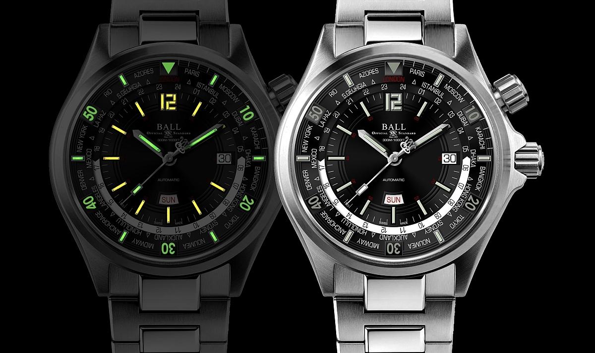 世上首枚配備星期/日期顯示的世界時間潛水時計:BALL Watch Engineer II Diver World Time II