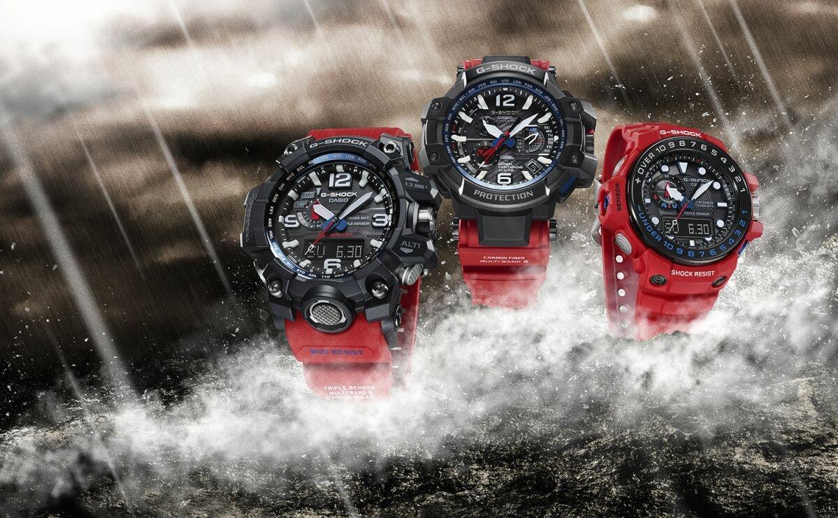 極限品味再進化:CASIO G-SHOCK MASTER OF G系列強悍紅黑新色設計,全面制霸陸海空
