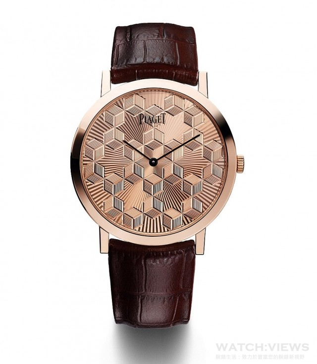 PIAGET ALTIPLANO GUILLOCH金質錶盤腕錶,限量38枚,鐫刻獨立編號,G0A40613,台幣參考售價1,130,000元。