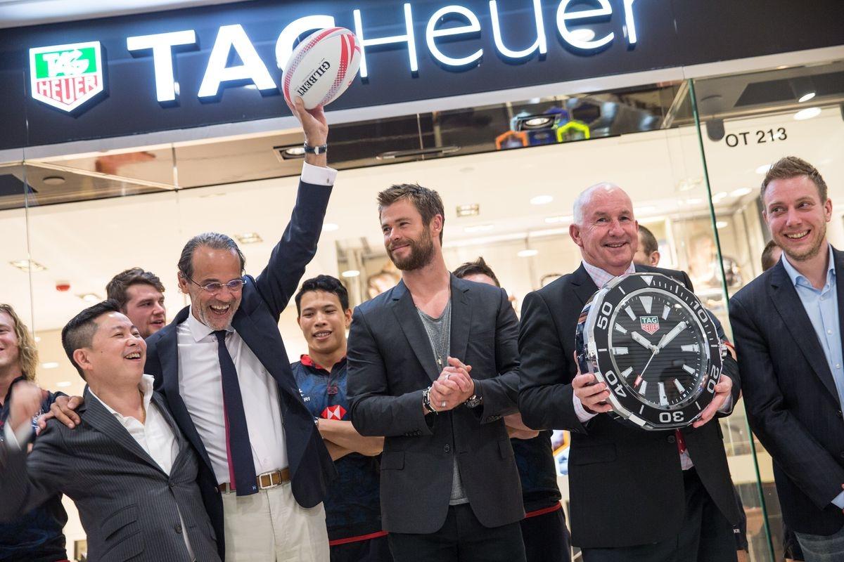 雙喜臨門──TAG Heuer海港城專店開幕並宣布成為香港國際七人英式橄欖球賽官方指定計時