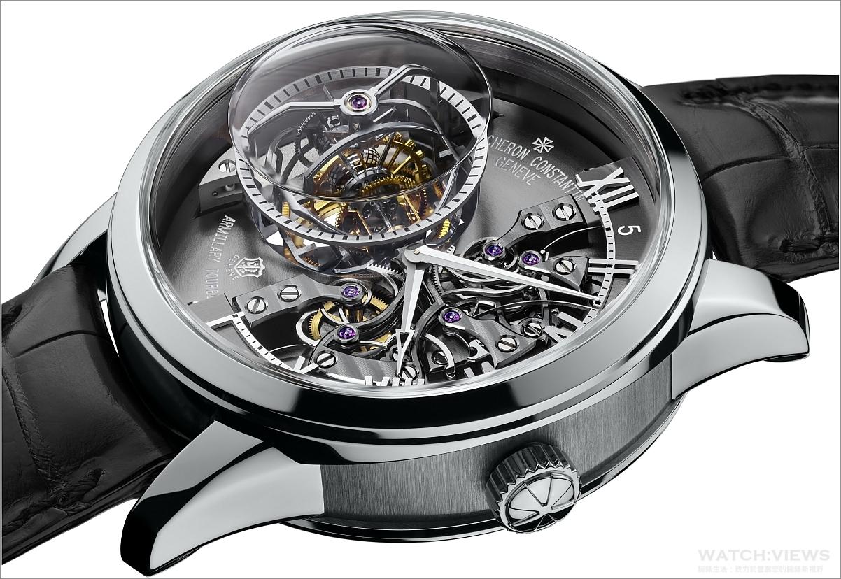 江詩丹頓發表Maître Cabinotier Retrograde Armillary Tourbillon飛返渾天儀式陀飛輪腕錶