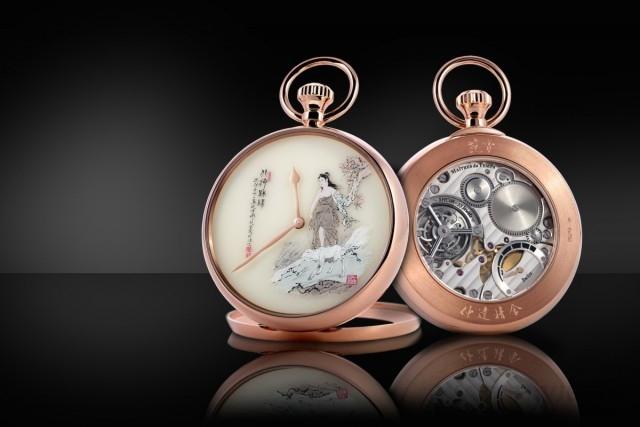 Maîtres du Temps Fine Arts Chapter精細工藝懷錶在融合東西兩種文化的同時,還需實現藝術與機械的融合。此係列懷錶同時體現「藝術大師」與「時間大師」的概念。