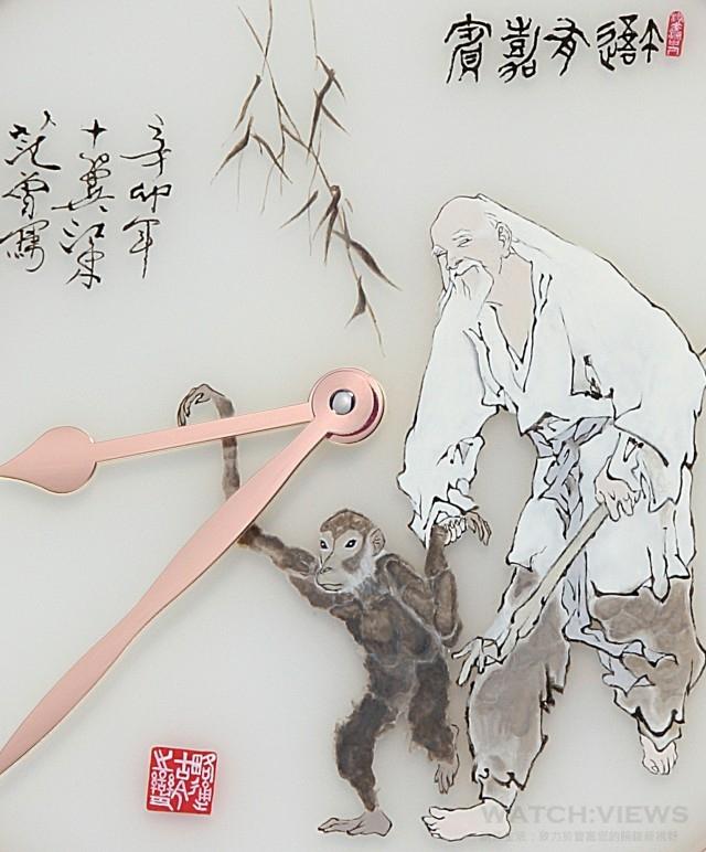 猴年懷錶的主題是猴象徵友誼,描繪了森林中的猴子也有感情,並與老人成為朋友。