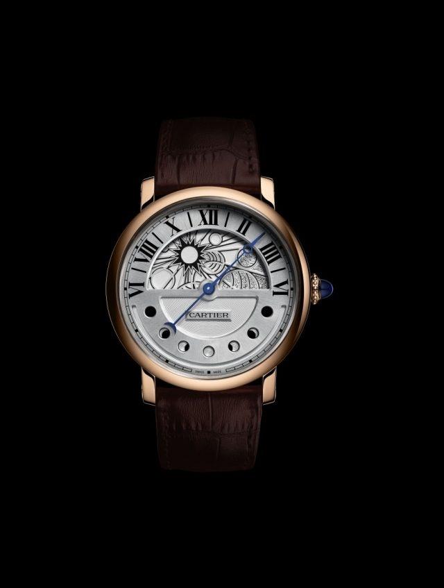 卡地亞Rotonde de Cartier晝夜顯示月相腕錶(日間的錶面顯示),建議售價NTD1,320,000。
