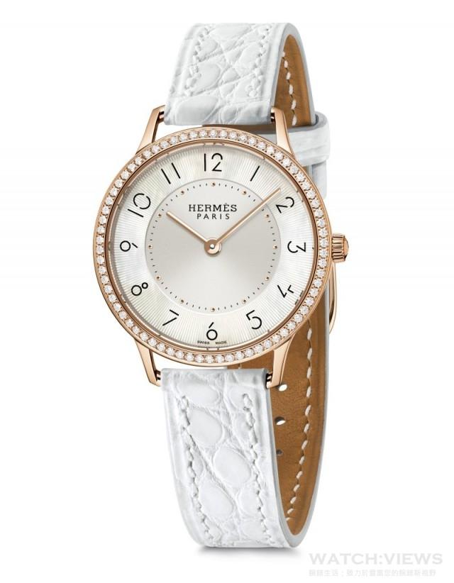 Slim d'Hermès腕錶 Slim dHermès是品牌、設計師與工匠完美配合而成的劃時代作品。獨特融合了當代與古典優雅,展現出品牌的精萃。