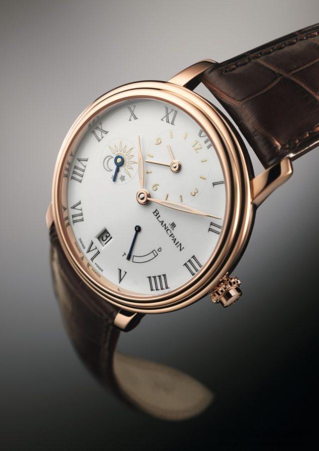 寶鉑Villeret 1/2 時區八日鍊腕錶,建議售價NTD1,415,000。